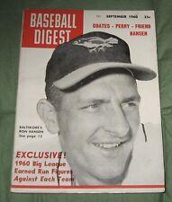 Vintage Baseball Digest September 1960  Vol.19 No.8 Ron Hansen Cover