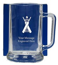 Personalised Fishing Pint Glass Tankard Birthday Free Gift Box GT19