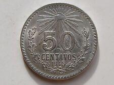 MEXICO , 50 CENTAVOS DE 1945 . PLATA