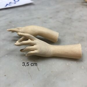 Coppia mani donna statue  wood Feet restauro pastori statua crib 3,5 Cm