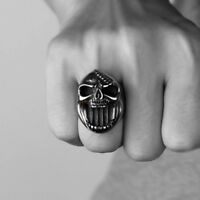 Skull Rings Gothic Biker Punk Jaws Stainless Steel For Men Ring Beer Bottle Open