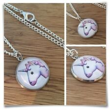 Emoji face Unicorn Magic Charm pendant necklace txt geek