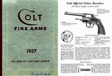 Colt 1937 Fire Arms Gun Catalog