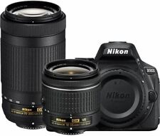 Nikon D5600 Digital SLR Camera with 18-55mm VR & 70-300mm DX AF-P Lenses - (Rene