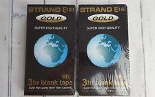 2 x Strand E180 Or Super Haute Qualité 3 H vidéo VHS vierges cassettes