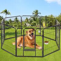 Pet Playpen 40'' 8 Panel Heavy Duty Pet Cat Puppy Exercise Pen Dog Fence Crate