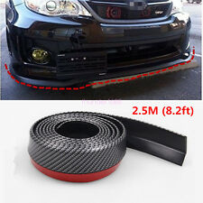 Car Universal Carbon Fiber Front Bumper Lip Splitter Chin Spoiler Body Kit Trim