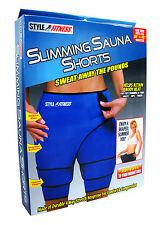 "Slimming Sauna Shorts XL Unisex Waist 48""+ Sweat Reduce Shed Body Weight Water"