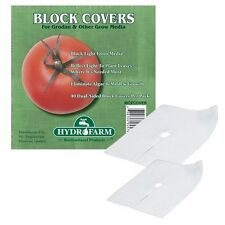 "Hydrofarm 40 pcs 6"" Rockwool Grodan Block Cover growing media reflects light"