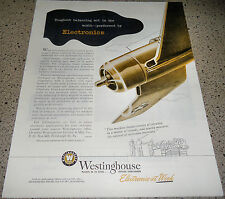 1945 WW II VOUGHT F4U CORSAIR Fighter WW2 Plane Westinghouse Electronics WWII AD