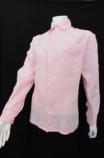 Taboo Basic One Women Pink Button Down Shirt Dressy Edgy Blouse Size Medium