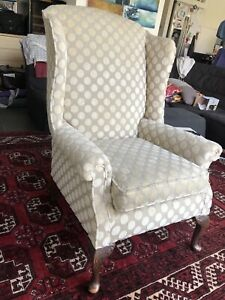 Vintage Retro Wing Back Chair. Reupholstered. Great Condition.Very Comfortable