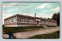 La Salle IL, Manual Training School, Vintage Illinois Postcard
