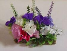 """1:12 Gartenmodul 21 """"Schmales Blumenbeet 3"""" 8x2,5 cm  für die Puppenstube"""