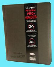 ULTRA PRO 9 POCKET PREMIUM  LEATHERETTE GREY BINDER STORAGE 360 Card 20 Pages
