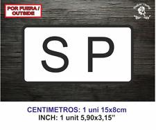 SP Servicio Público Vinilo Pegatina Sticker Decal Vinyl Publico Etiqueta