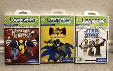 Lot of 3 Leapster STAR WARS Jedi Math + Batman + Wolverine X-Men LEARNING GAMES