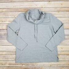 Karen Scott Womens M Grey Long Sleeve Sweatshirt Top