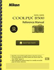 Nikon Coolpix B500 Digital Camera USER'S REFERENCE MANUAL