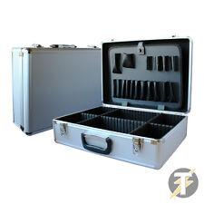 Electricians Aluminium Lockable Silver Tool, Flight case, Organiser storage Box