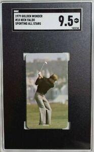 1979 Golden Wonder All Stars #18 Nick Faldo Rookie Card RC SGC 9.5 Mint+ PGA HOF
