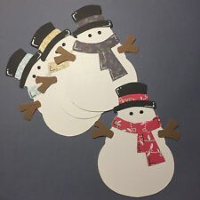 Big Snowman Snowmen Snow Winter Christmas Die Cuts (Toppers/Scrapbooking)