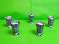 Vintage Sake / Wine Cups x 5 Signed