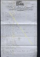 1852 CARLISLE - Fine SADLER, HARNESS, COLLAR, WHIP & TRUNK Maker, Wm Cannell