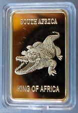 South Africa, Crocodile, Gold Plated bar, Nature, Animal, Wild