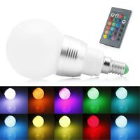 10W 85-265V E14 RGB LED Light Color Changing Lamp Bulb Decor + Remote Control