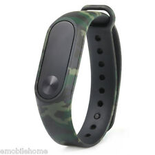 Camouflage Pattern Watch Band for Xiaomi Mi band 2 of green