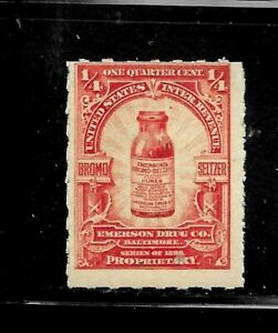 HICK GIRL- MINT U.S. M&M. STAMP   SC#RS280   1/4 CENT  EMERSON DRUG CO.   D1342