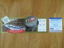 MAURICE RICHARD signed 95 BOSTON BRUINS vs MONTREAL CANADIENS Ticket PSA AI18894