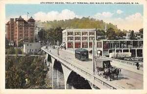 Clarksburg West Virginia 4th Street Bridge and Trolley Terminal PC AA41370