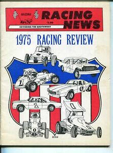RACING NEWS AUTO RACE YEARBOOK-1975-CRA-SUPER MODS-INDY CARS-MIDGETS-vf