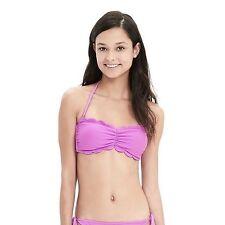 Banana Republic Purple Lilac Halter Scallop Bandeau Bikini Top Size L Large NEW