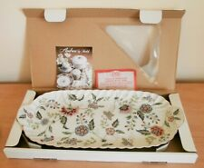 "Nib Andrea by Sadek ""Buckingham� 14 ½� Floral Porcelain Serving Tray/Dish /Plate"