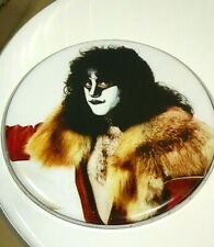 """KISS """"UNMASKED"""" ERIC CARR, LIMITED EDITON 12"""" ROUND DRUM HEAD, PETER CRISS."""