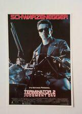 carte postale cinéma film TERMINATOR 2 Arnold Schwarzenegger Judgment day
