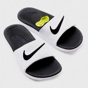 Nike Kawa Slide Slider Slip On Solar Soft Pool Sandals Junior Womens White Black