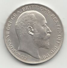 More details for very rare edward vii 1902 matt proof silver crown 5/-