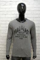 Maglia REPLAY Uomo Taglia Size M Maglietta Shirt Man Cotone Manica Lunga Grigio