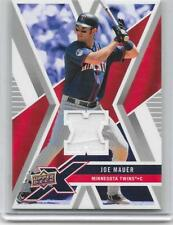 Joe Mauer Twins 2008 Upper Deck X Baseball Game-Used Patch (White)