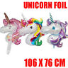 Giant Unicorn Foil BalloonS Birthday Party Magical Decoration Girls Rainbow Pink