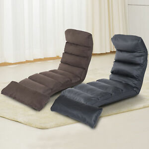 Folding Sofa Bed Lounge Floor Chaise Sleeper Seat Chair w/ Pillow