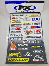 Factory Effex Sponsor Kit D Graphics Decals Stickers Sticker Sheet Dunlop Leatt