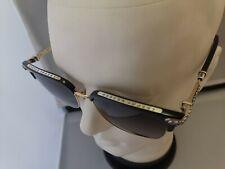 NEW 😎 Chrome Hearts VERTICAL SMILE l Sunglasses BK / GP 55□19-146 black.