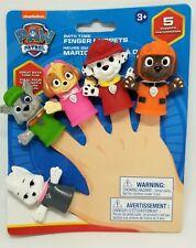 PAW PATROL Bath Finger Puppets Toys Set Pack Skye Sweetie Rubble Zuma Marshall