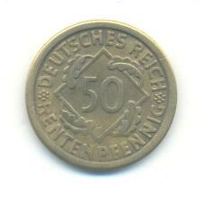 VERY RARE.GERMANY.50.RENTENPFENNIG.1924.MINT.F.VERY COLLECTABLE.A62