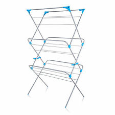 Minky 3 Tier Extra Wide Indoor Airer 20m of Drying Space - Silver